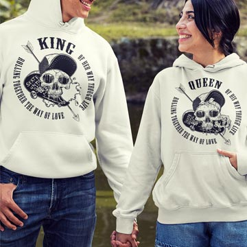 Skater Skull King und Queen