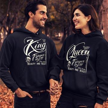 King und Queen Hoodie