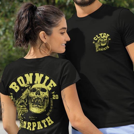 Bonnie und Clyde Partner Shirts